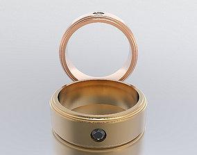 3D printable model men ring rings