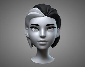 3D Cartoon Female Head