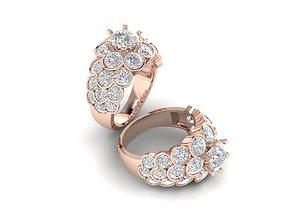 Women ring full diamond 001 3D printable model