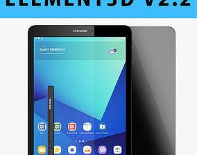E3D - Samsung Tab S3 New S-Pen Black 3D model