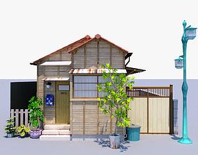 Japanese Little House 3D asset