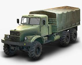 Low Poly Kraz 255 Flatbed 3D model VR / AR ready