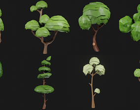 Nature Pack Forest Low-poly 3D model low-poly