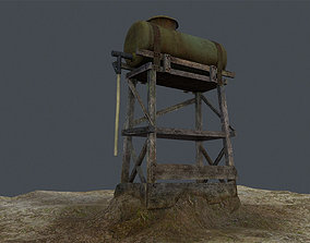 3D asset Old Water Tank Tower