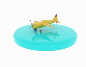 Airplane cartoon - 02 3D model game-ready
