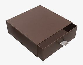 3D model Drawer cardboard gift box 03