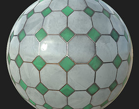3D asset Marble tile floor