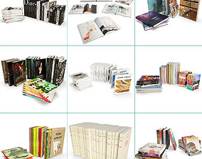 Books Collection 3D model