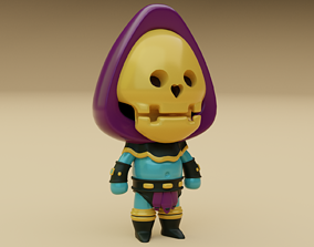 Cartoon Skeleton Warrior Character 3D asset