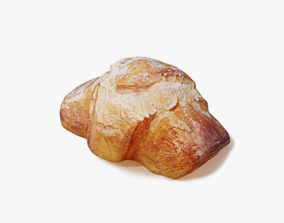 3D model PBR Croissant dessert
