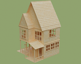 Stick House in Blender and other formats 3D model