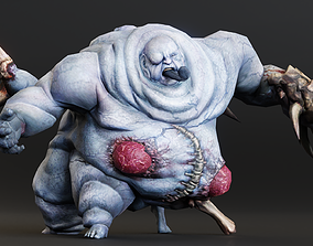 3D asset Abomination Twins Character