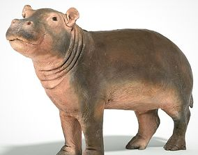 Baby Hippo 3D scanned animal realtime