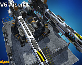 3D asset Railgun - HQ