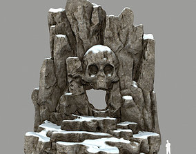 skull cave 3D asset realtime snowy