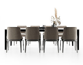 3D fabric Modern dining table and chair