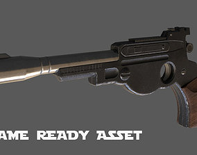 rigged The Mandalorian Blaster Pistol Rigged - Game Ready