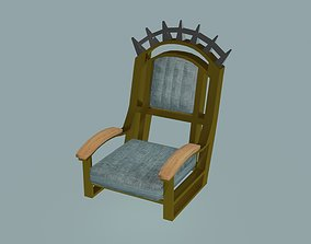3D asset Crown Armchair