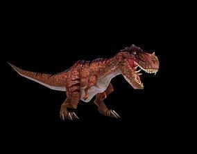 Tyrannosaurus Rex 3D asset animated low-poly