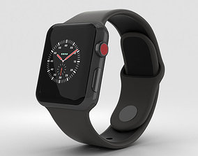Apple Watch Edition 3 38mm GPS Ceramic Gray Black Sport 3D