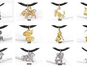 Zodiac pendants 3D model