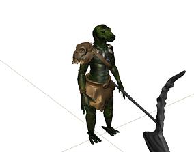 3D model character rigging