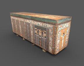 3D asset Egyptian Wooden Coffin