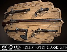3D model VR / AR ready Collection of classic guns