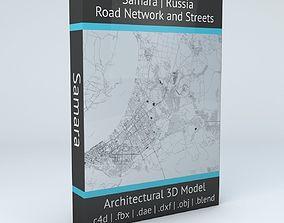 3D model Samara Road Network and Streets