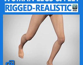 3D model Adult Female Legs and Feet