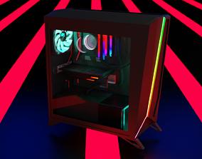 Simplistic Gaming PC 3D model