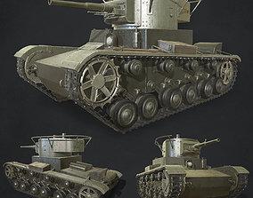 3D model Russian tank