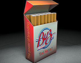 Cigarette box 3D model and animation animated