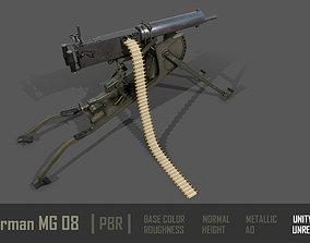 3D model German MG-08 Machine Gun