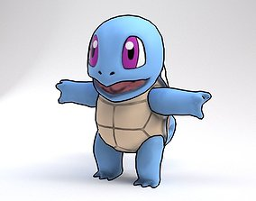 Squirtle Pokemon Rigged 3D model