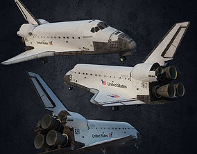 3D model Plane Andromeda space shuttle of America