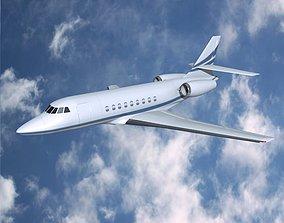 Dassault Falcon 2000dx private jet 3D model