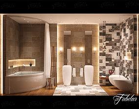 3D Bathroom interior tub