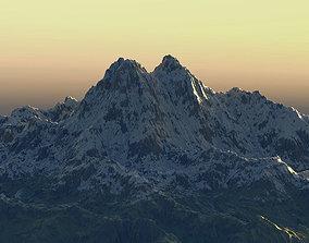 Hero mountain 3D asset