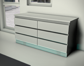hi-tech hi tech and Aesthetic chest of drawers 3D