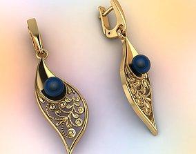 3D printable model Earrings pearls