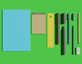 Stationery pack N1 3D model VR / AR ready