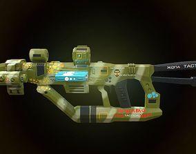 Low poly super tactical assault tactical rifle 3D model 2