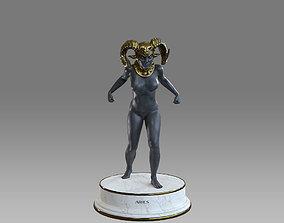 3D asset Zodiac Sign Female Aries