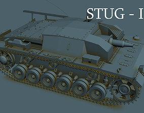 3D German STUG III B panzer
