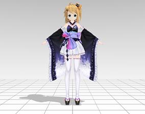 Akio Kimono 3D asset