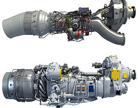 3D model Set of Turboprop Engines