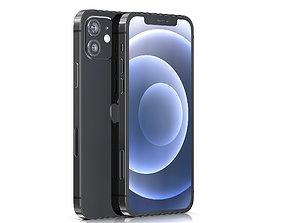 3D asset Apple iPhone 12 BLACK