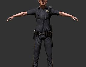 Police Officer Game Ready 3D model