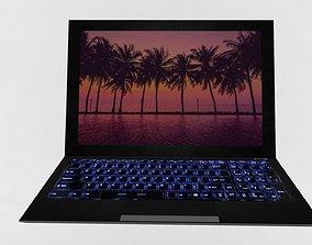 Laptop LowPoly 3D asset low-poly